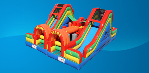 dual lane obstacle course party rental