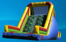 inflatable rockwall slide party rental